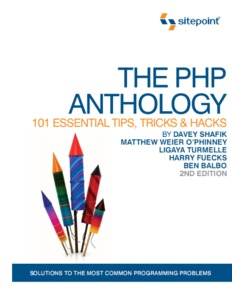 PHP Anthology, 2nd Edition