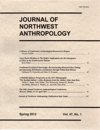 Journal of Northwest Anthropology Vol. 47, No. 1